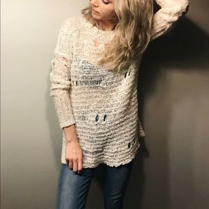 LIKE NEW! Forever 21 thin distressed sweater